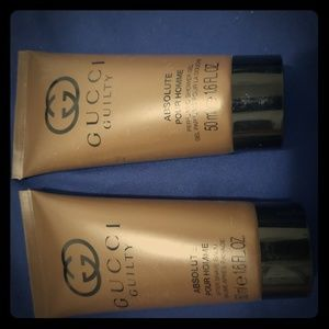 Gucci shower gel and aftershave